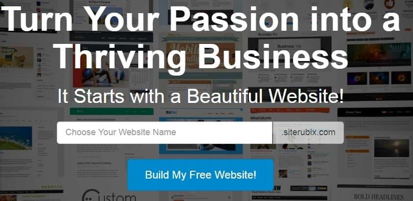 SiteRubix website builder review
