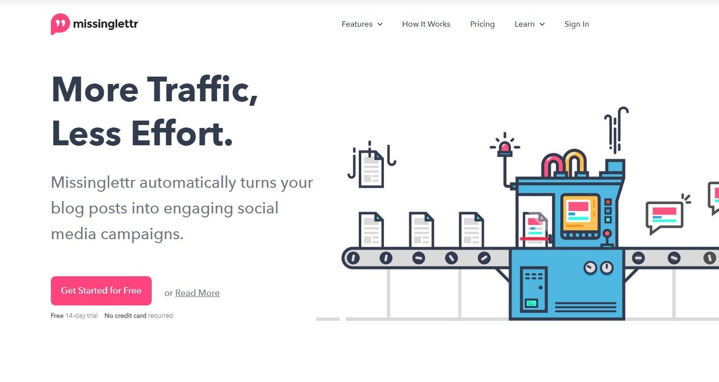 Misinglettr homepage