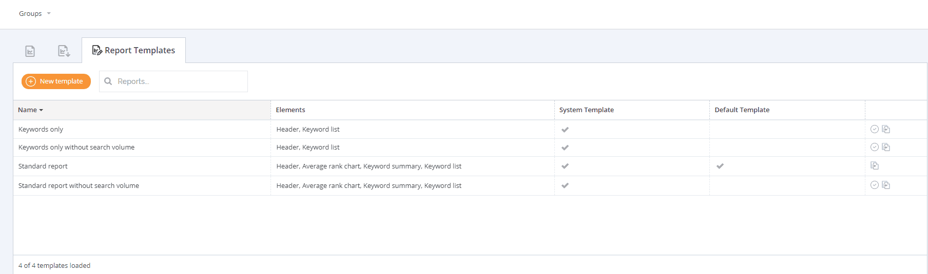 AccuRanker reporting templates