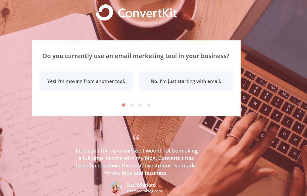 Open a new account with ConvertKit