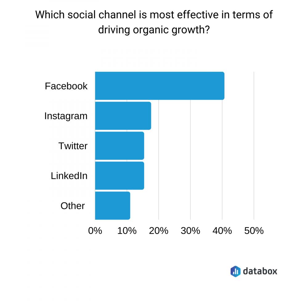 Databox organic social media growth