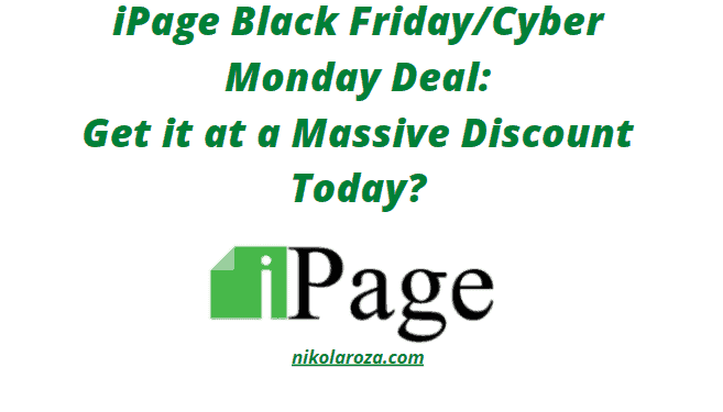 iPage Black Friday and Cyber Monday deals and sale 2021