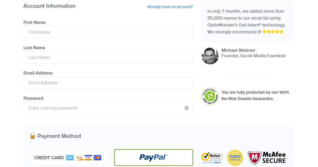 Pay for OptinMonster