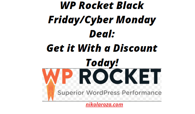 WP Rocket Black Friday/Cyber Monday Deals and Sale 2020