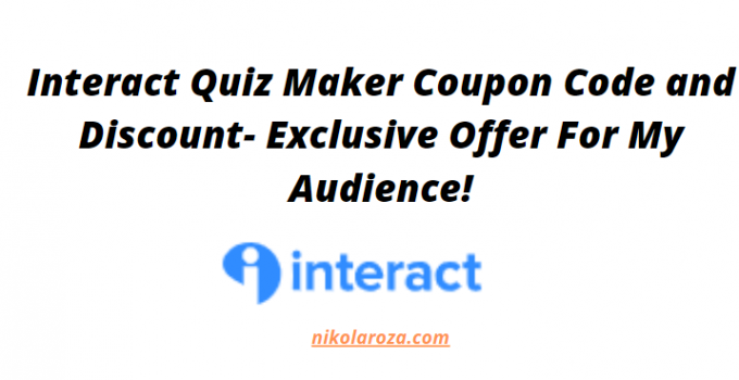 interact coupon code and discount