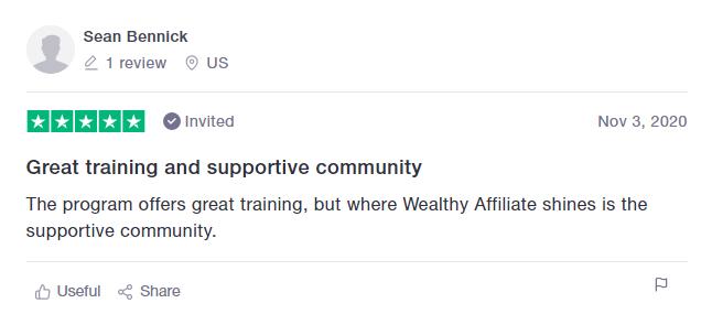 Wealthy Affiliate positive testimonial 3