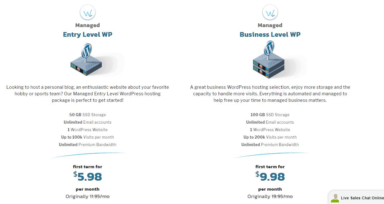 KnownHost managed WordPress hosting plans
