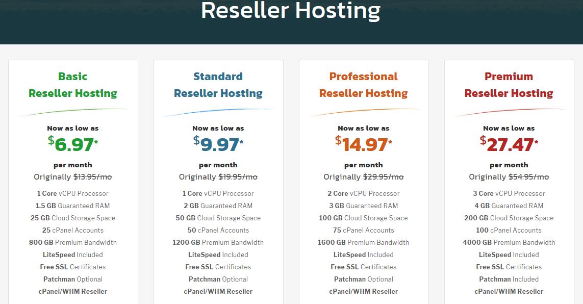 KnownHost reseller hosting plans