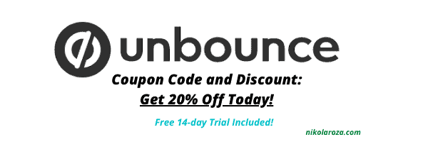 Unbounce Coupon Code and Discount