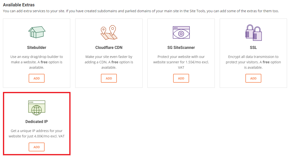 Dedicated ip is a paid service with Siteground, but free with Hostwinds.