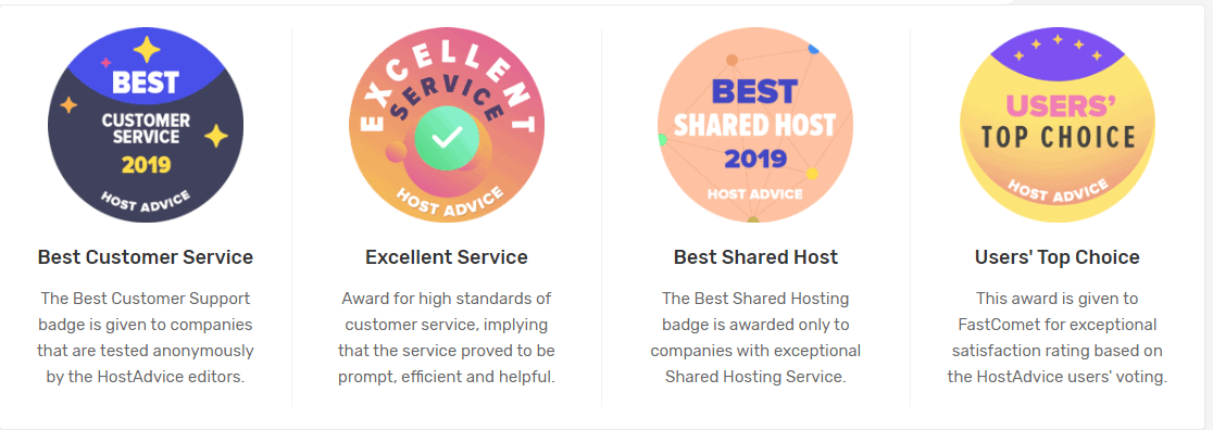 FastComet awards and recognition