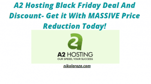 A2 hosting black friday/cyber Monday deal and sale 2020