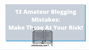 Amateur blogging mistakes list