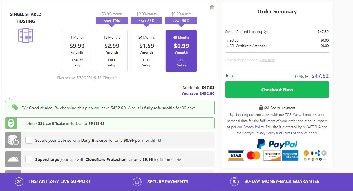 Buy Hostinger hosting