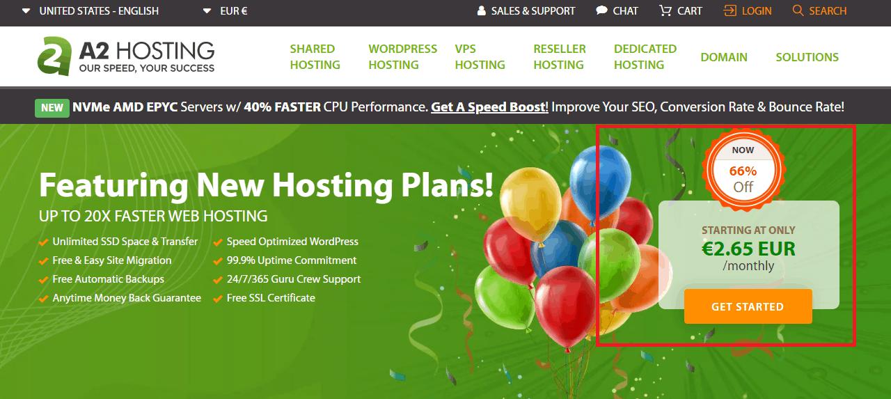 A2 hosting offer free website migration service
