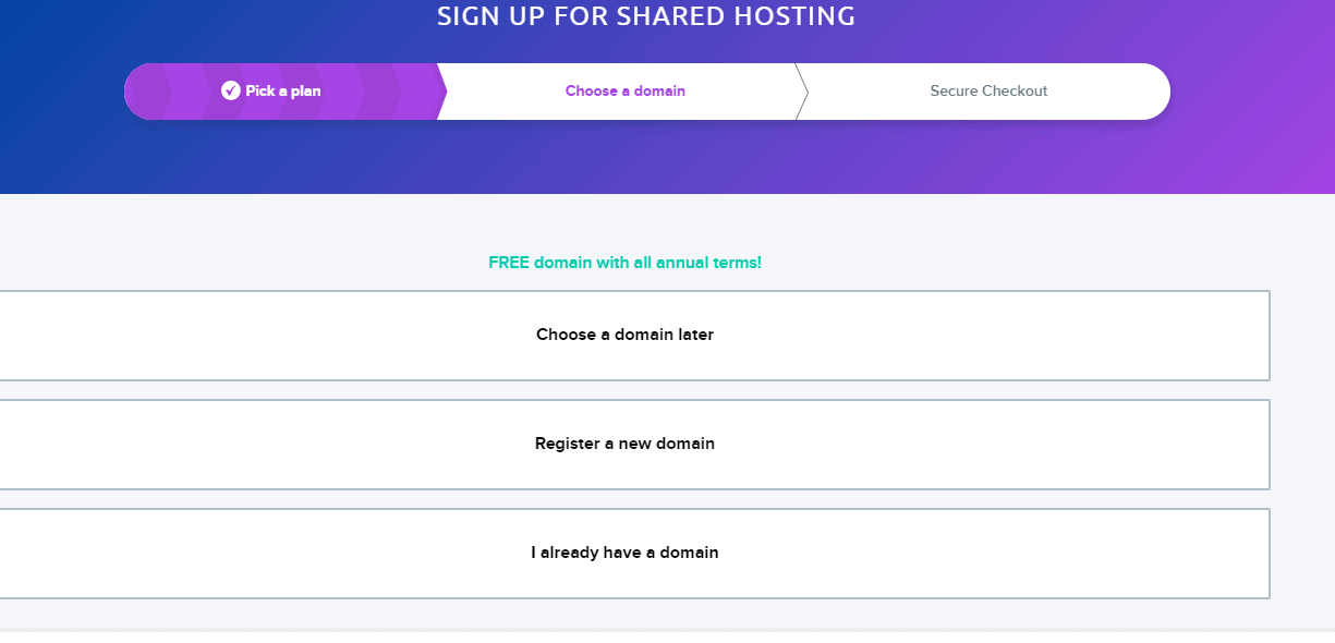 Get a new domain with DreamHost