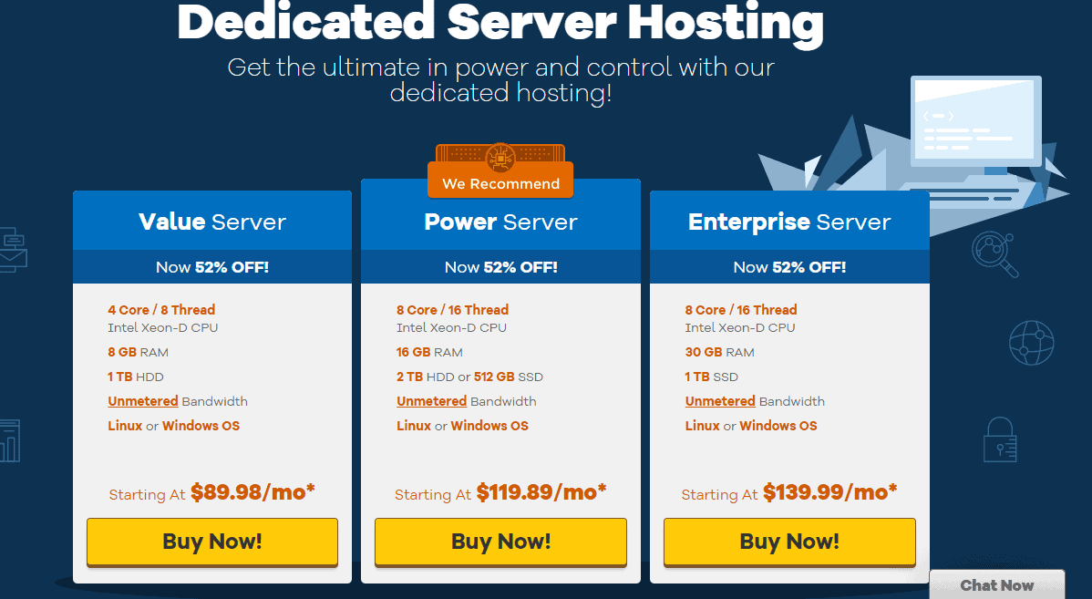 HostGator dedicated server hosting plans