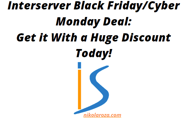Interserver Black Friday/Cyber Monday Deals and Sales 2021