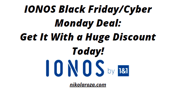 IONOS Black Friday and Cyber Monday Deals and Sales 2021