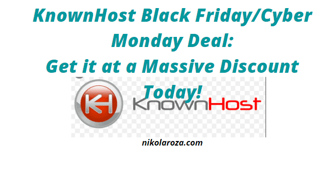 KnownHost Black Friday Deal and Discount 2021