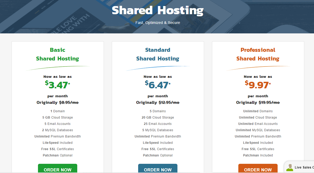 KnownHost shared hosting plans pricing