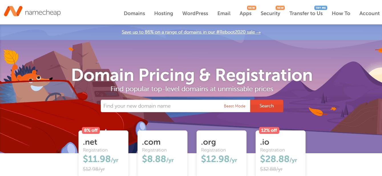 Namecheap domain service offer