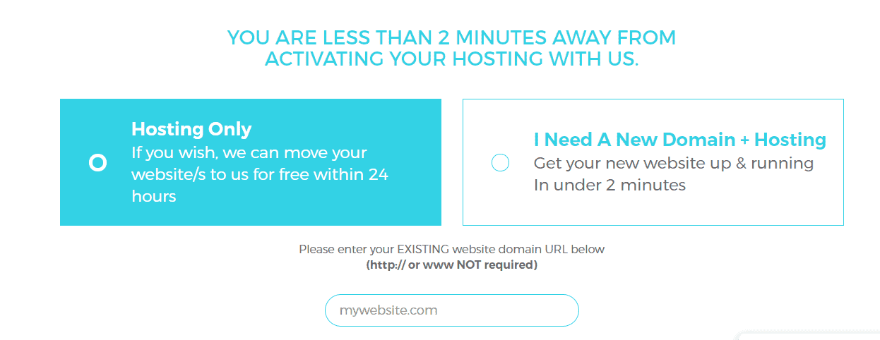 Pick new domain and hosting
