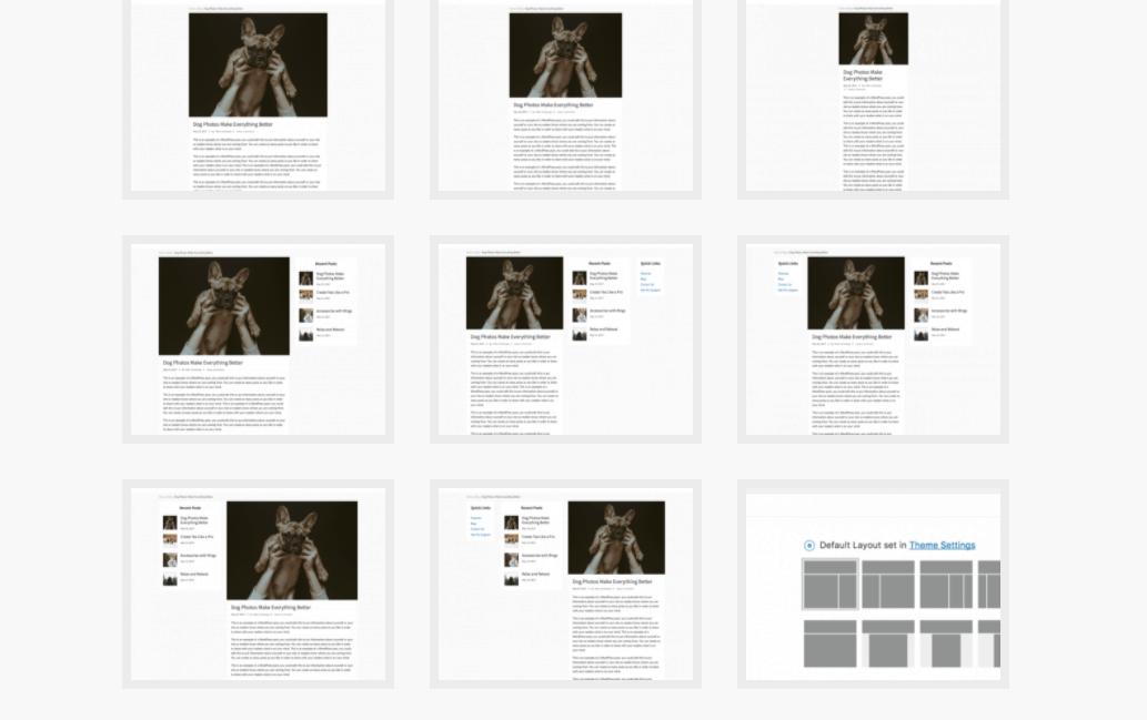 Mai Lifestyle Pro Site layout options