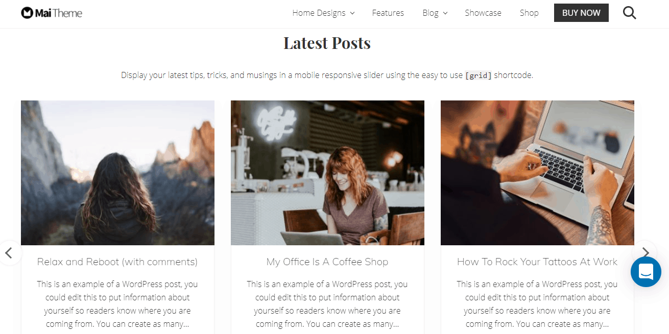 Mail Lifestyle Pro theme example and demo