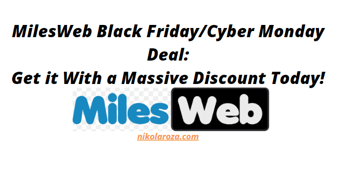 MilesWeb Black Friday and Cyber Monday Deals and Sale 2021