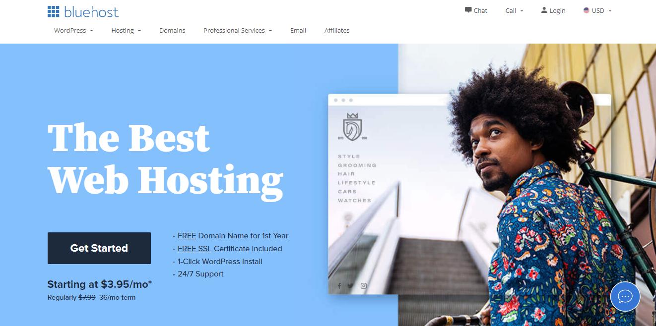 Bluehost Windows web hosting free trial