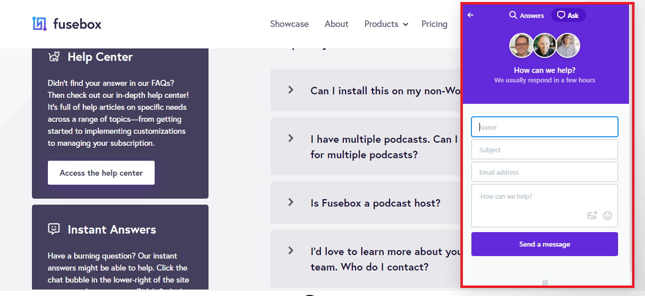 Fusebox Livechat system