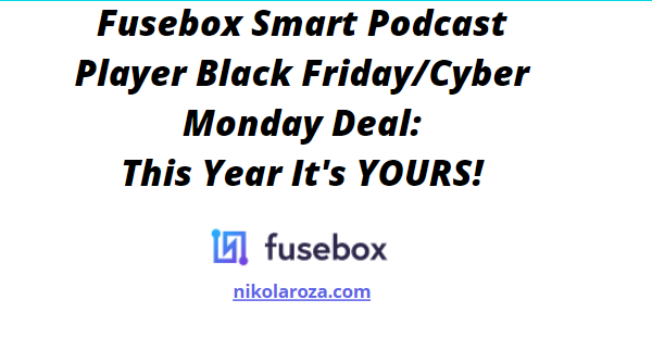 Fusebox smart podcast player black Friday/cyber Monday deals and sale 2020