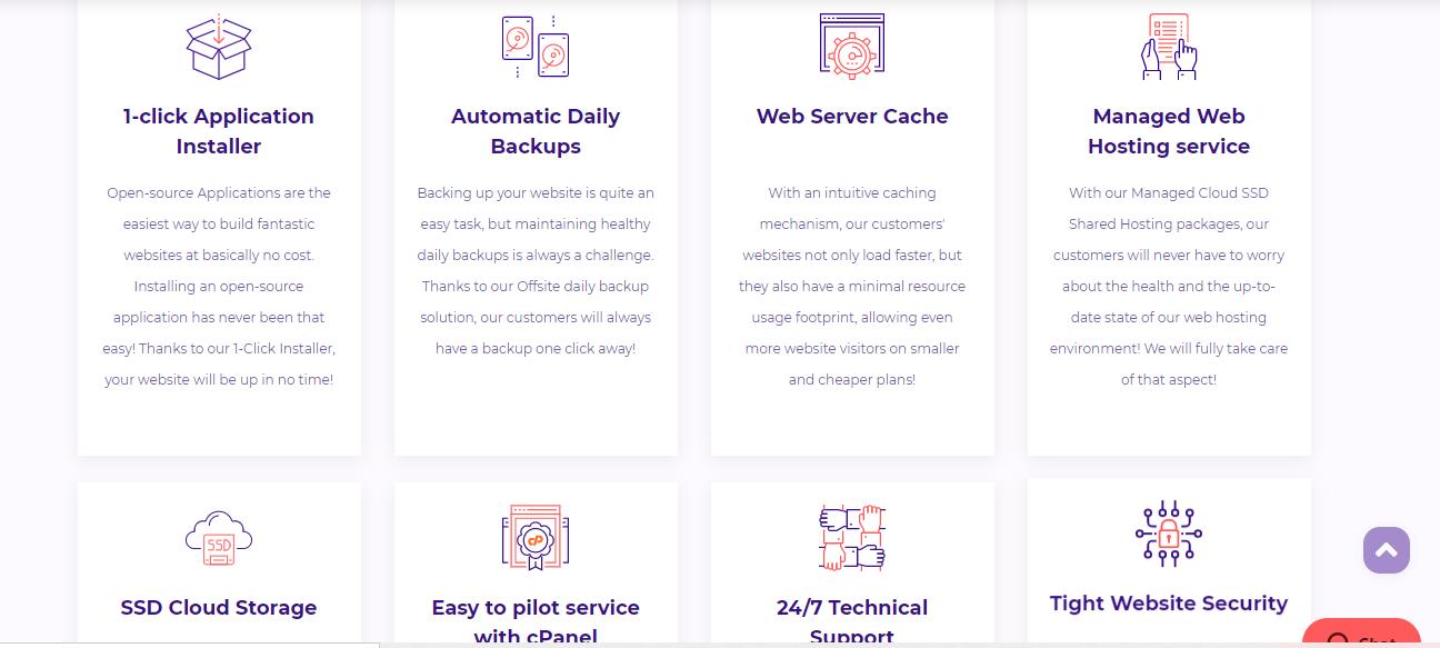 HostArmada web hosting features