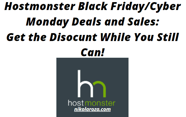 Hostmonster Black Friday/Cyber Monday Deals and Sales 2021