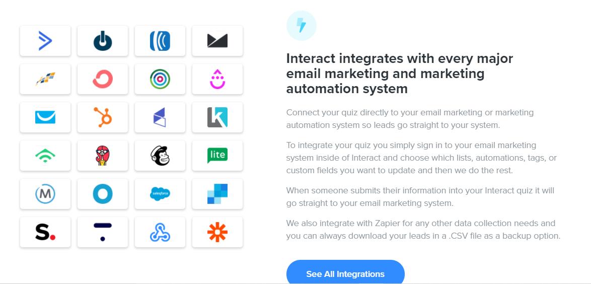 Interact integrations
