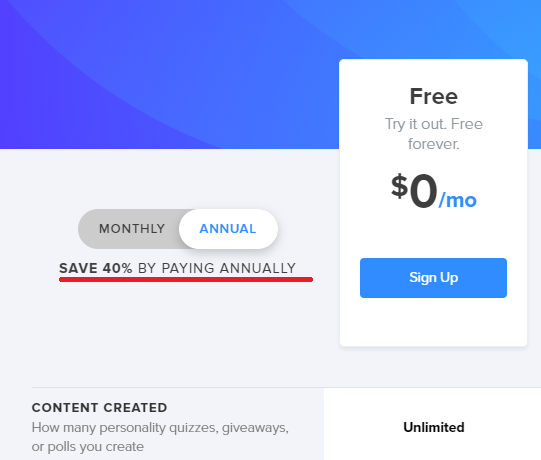 Interact save 40% with a yearly plan