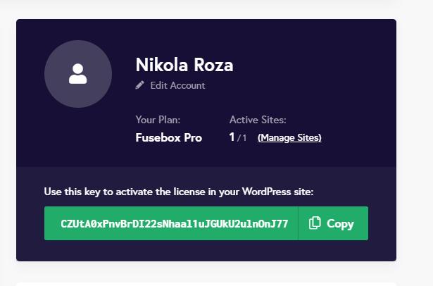 License key for fusebox