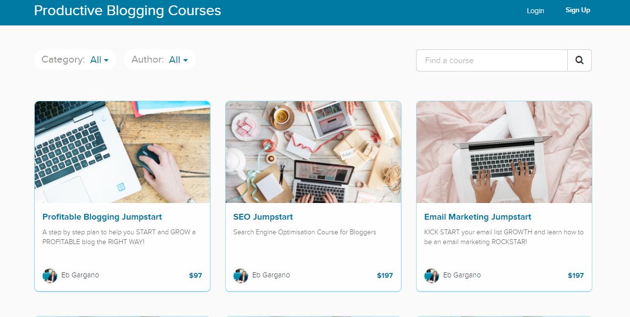 productive blogging courses