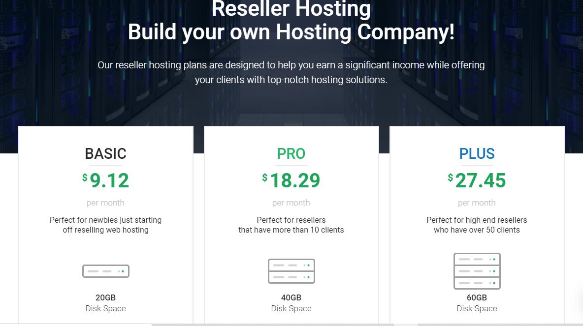 Reseler hosting black friday deals