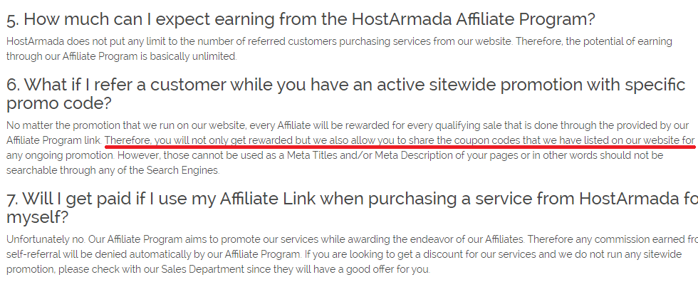 HostArmada sitewide coupon codes are allowed