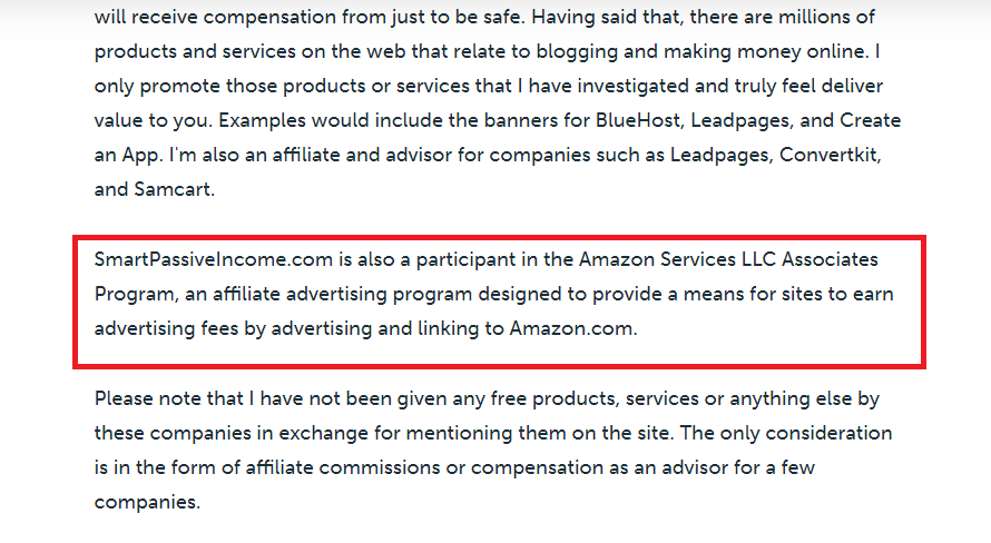 Pat Flynn Amazon affiliate program