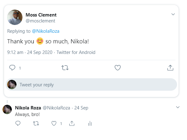 Twitter engagement and commenting