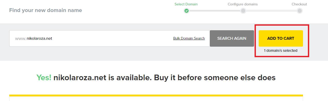 Domain Name avaiable