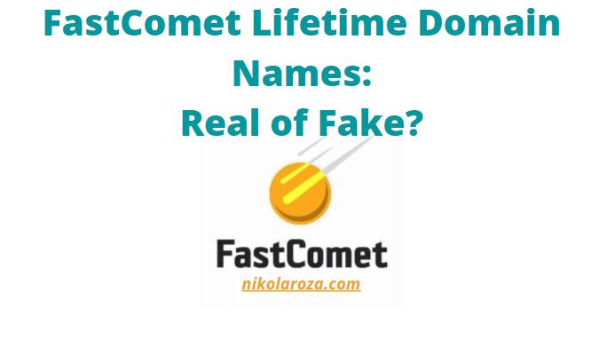 FastComet lifetime domain name