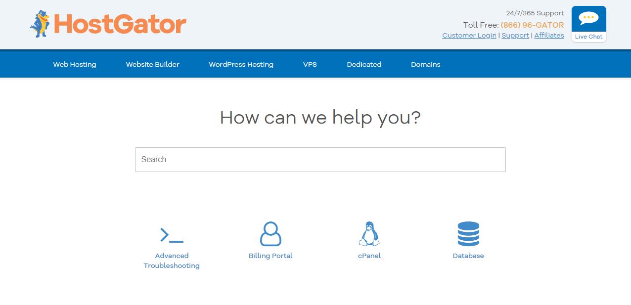 HostGator knowledge center