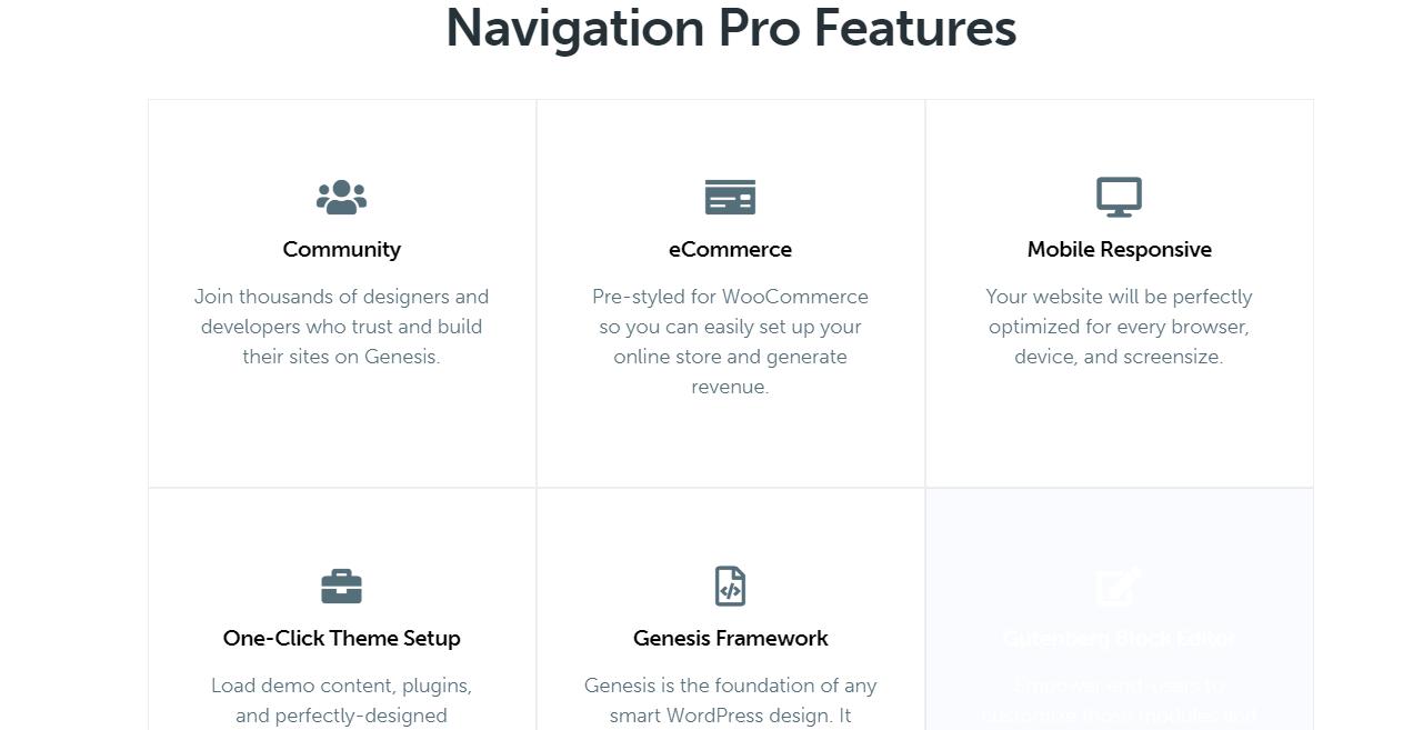 Navigation Pro features