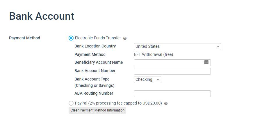 Payment method impact