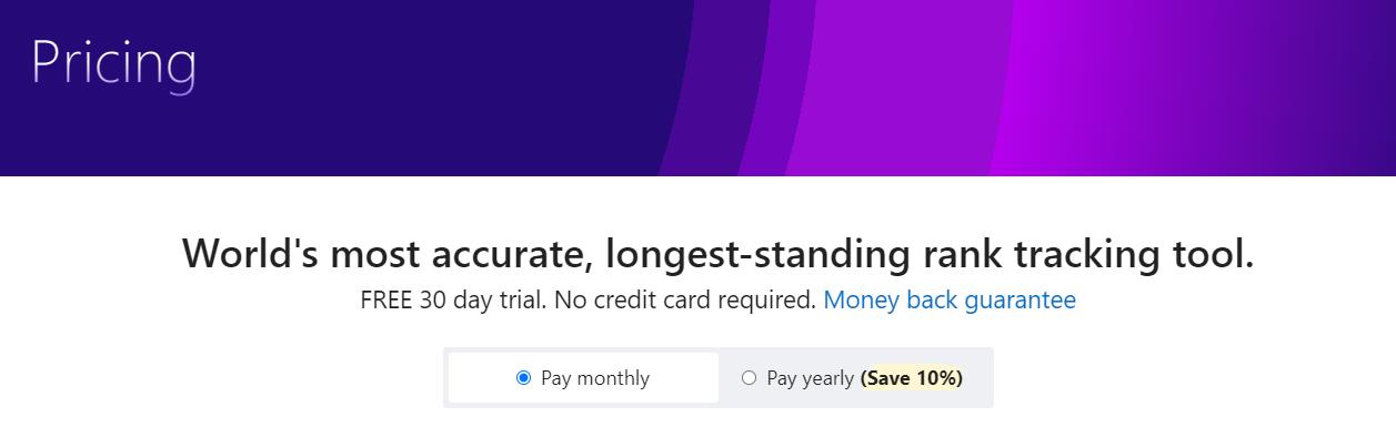Advance Web Ranking money back guarantee