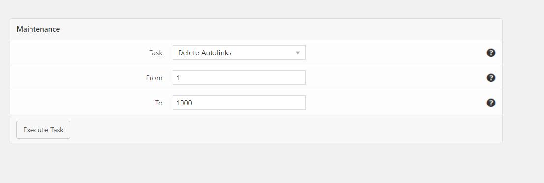 AutoLinks Manager Pro Maintenance